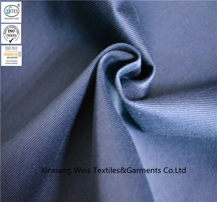 Light Weight 100 Flame Retardant Textiles For Protective Coverall 21s*21s