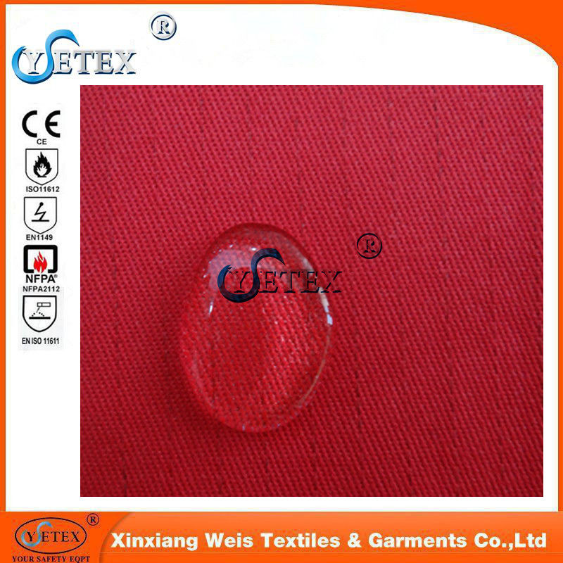 Anti Static Pure Cotton Oil Repellent Fabric / Frc Flame Resistant Fabric