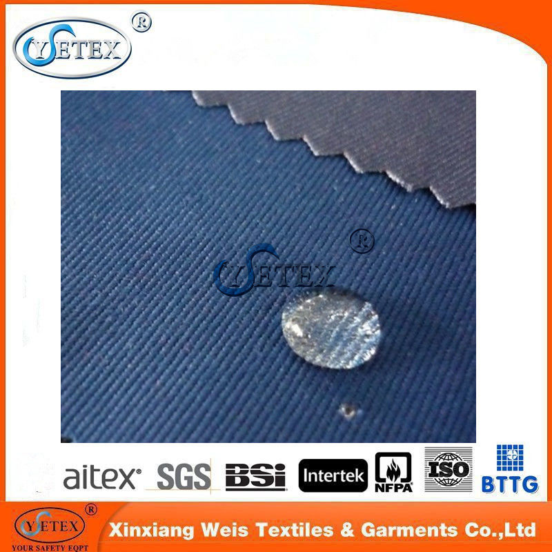 Frc Cotton Twill Water Oil Repellent Fabric Anti Acid Alkali Flame Resistant